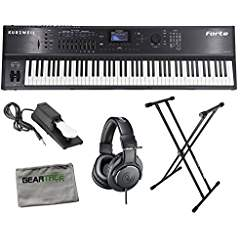 Kurzweil Forte SE 88 Weighted Hammer Action Stage Piano w/Geartree Cloth, Stand