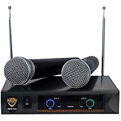 Nady DKW DUO HT B/D VHF Dual Wireless Handheld Microphone System - includes 2 microphones